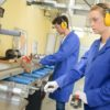 Pracownicy w fabryce